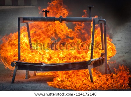 Fire for Firefighters training - stock photo
