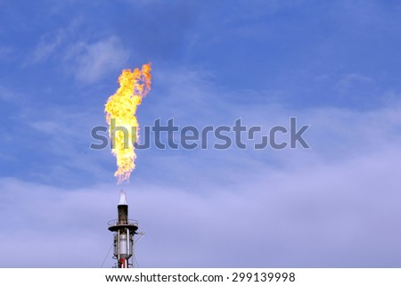 Fire from a gas torch