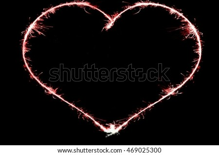 Fire heart background image