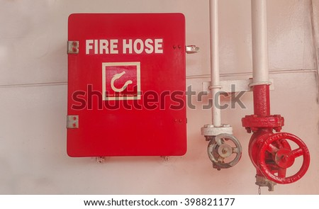 fire hydrant hose box on ship