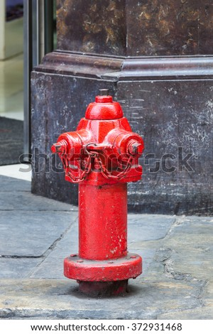 fire hydrant on a city street - stock photo