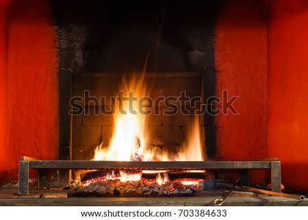 Fire in the chimney