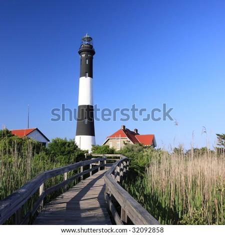 Fire Island lighthouse - stock photo