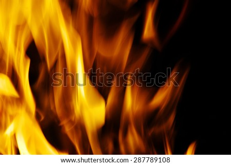 fire isolated on a black