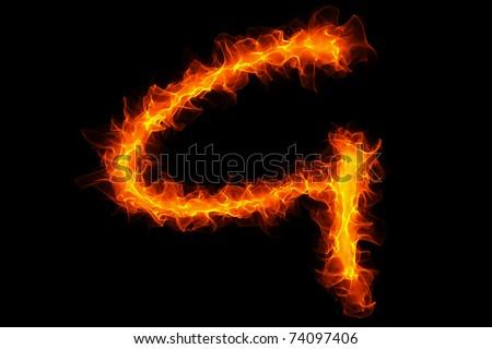 Fire letter g graffiti - stock photo
