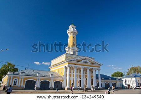 Fire lookout tower in Kostroma, Russia - stock photo