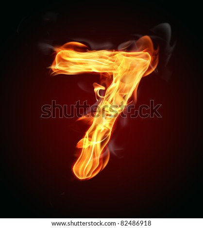 "Fire number ""7"" - stock photo"
