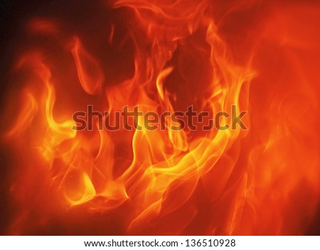 fire on black - stock photo