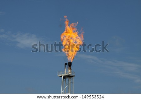 fire on rig in the gulf of thailand