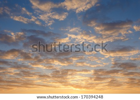 fire on sky - stock photo