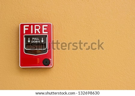 fire on the wall - stock photo