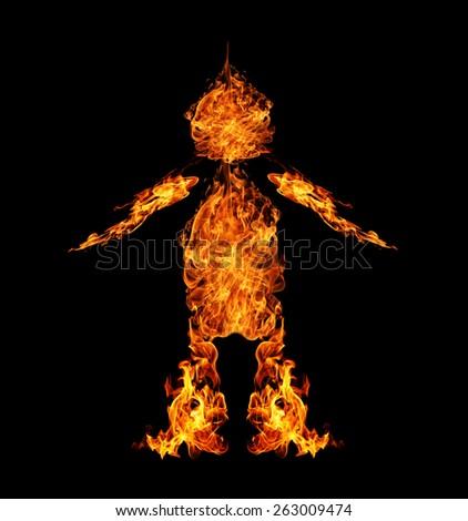 fire Person.  - stock photo