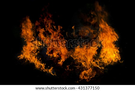 Fire raged violently Ready to burn everything./made to the concept - stock photo