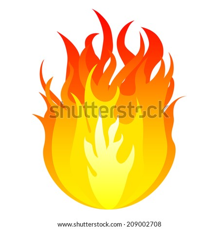 Fire. Raster version  - stock photo