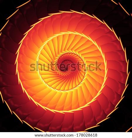 Fire reincarnation helix - stock photo