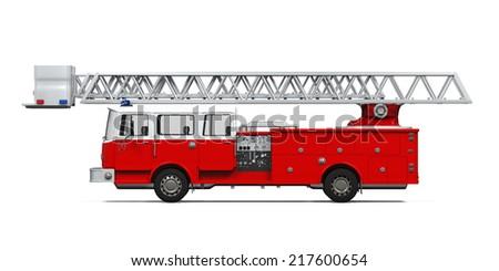 Fire Rescue Truck - stock photo
