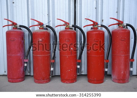 Fire safety extinguisher tool - stock photo