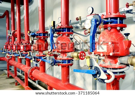 fire safety pipe - stock photo