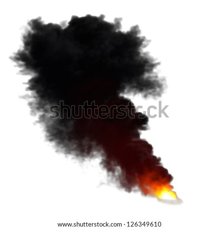 Fire Smoke Cloud Clipart Fire smoke isolated on white