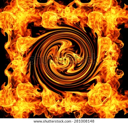 Fire Spin - stock photo