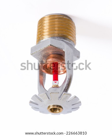 Fire sprinkler nozzle pendent fast response  - stock photo
