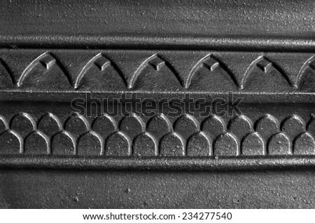 Fire surround close-up. - stock photo
