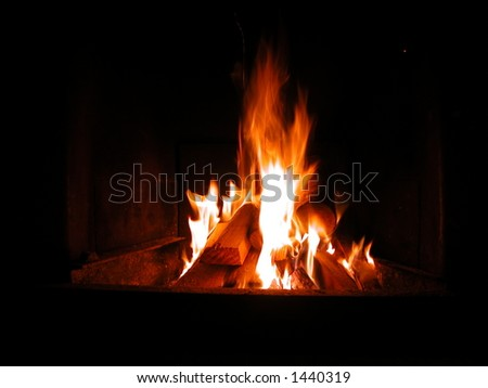 Fire to keep warm - stock photo
