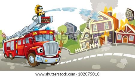 Fire truck - stock photo