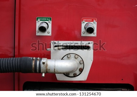 Fire Truck equipment - stock photo