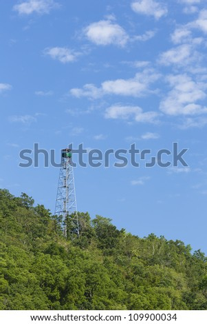 Fire Watch Tower - stock photo