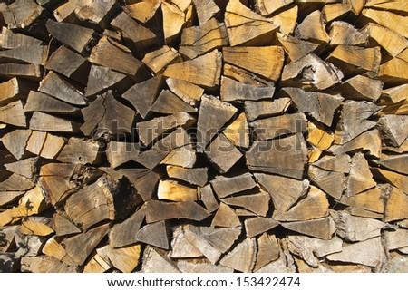 fire wood - stock photo