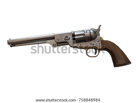 firearm on white background
