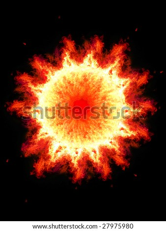 Fireball. Abstract background