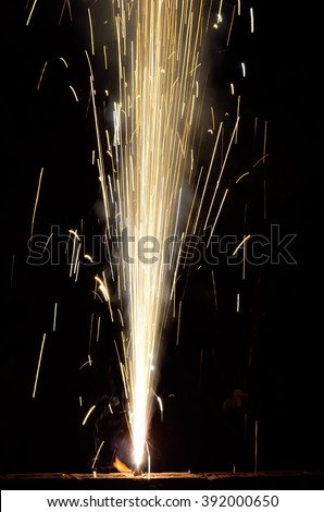 Firecrackers on occasion of Indian festival of lights. - stock photo