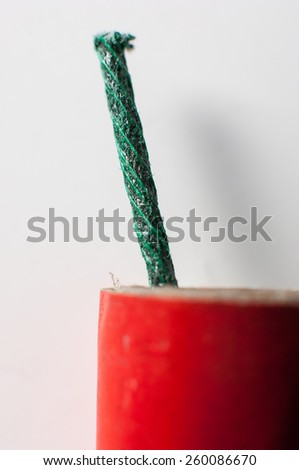 Firecrackers with fuse. - stock photo
