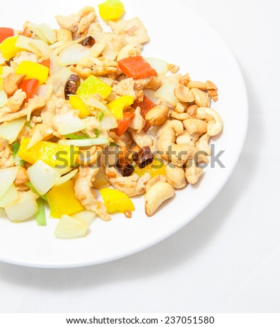 Fired Cashew Nut with chicken