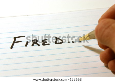 FIRED - Notepad & PenIsolated