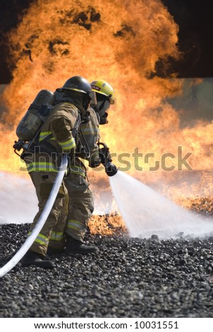 firefighters fight fire