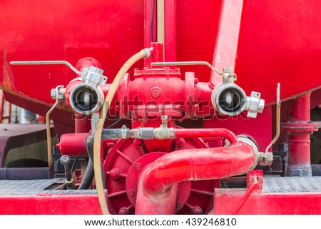 Firefighting machine hydraulics tool of fire engine - stock photo