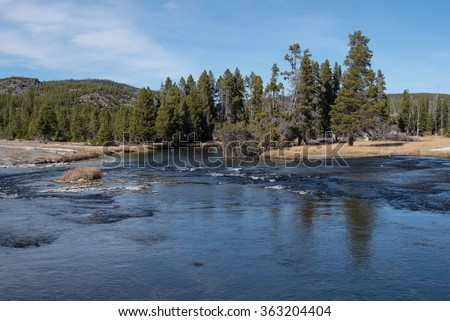 Firehole River at the Biscuit Basin in Yellowstone National Park