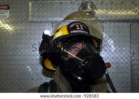 fireman looking up