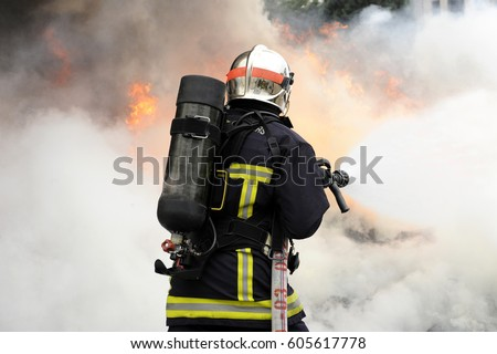 Fireman on the fire