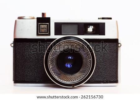 Firenze, IT - March 20, 2015: Vintage Taron 50mm film camera - stock photo