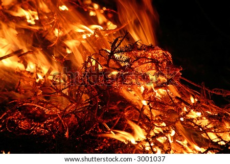 firepit - stock photo