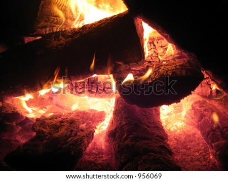 Fireplace #1 - stock photo
