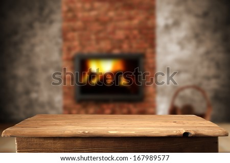 fireplace in interior