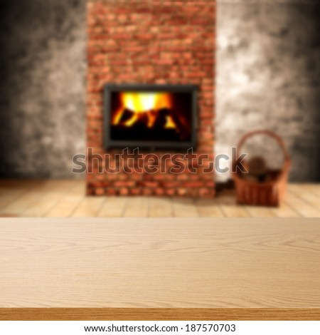 fireplace in worn interior