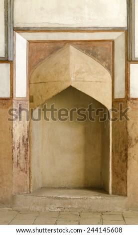 Fireplace of Ali Qapu palace, Isfahan, Iran  - stock photo
