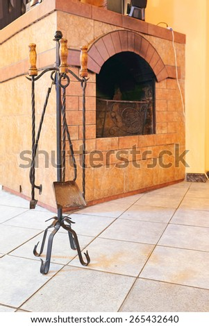 Fireplaces and accessories - stock photo