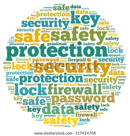 Firewall info-text graphics and arrangement concept on white background (word cloud) - stock photo